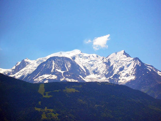 View on the Mont-Blanc from the property