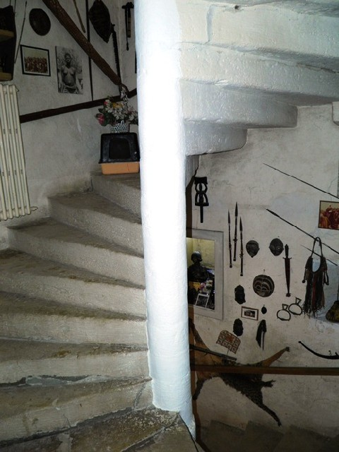The stairs in the tower