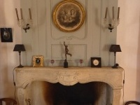 The main lounge fire place